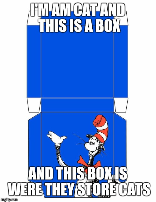 I'M AM CAT AND THIS IS A BOX AND THIS BOX IS WERE THEY STORE CATS | image tagged in i am cat and this is box were they store cats | made w/ Imgflip meme maker