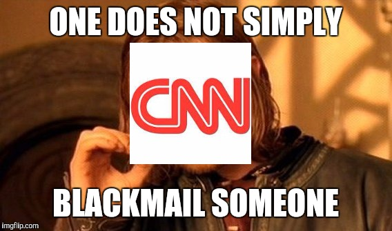One Does Not Simply Meme | ONE DOES NOT SIMPLY BLACKMAIL SOMEONE | image tagged in memes,one does not simply | made w/ Imgflip meme maker