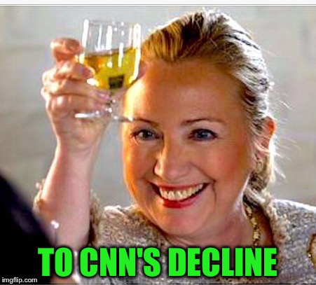 TO CNN'S DECLINE | made w/ Imgflip meme maker