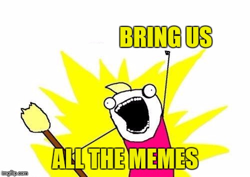 X All The Y Meme | BRING US ALL THE MEMES | image tagged in memes,x all the y | made w/ Imgflip meme maker
