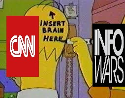 Insert real news here | . | image tagged in homer simpson instead brain,cnn,infowars,donald trump,fake news,war | made w/ Imgflip meme maker