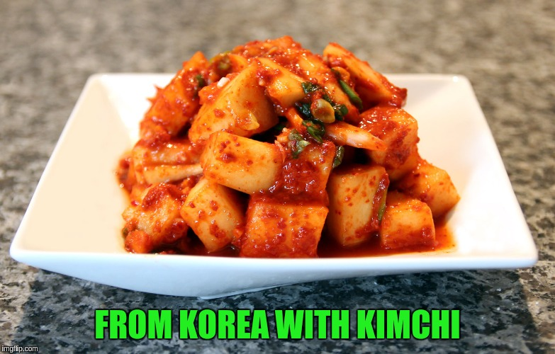 FROM KOREA WITH KIMCHI | made w/ Imgflip meme maker