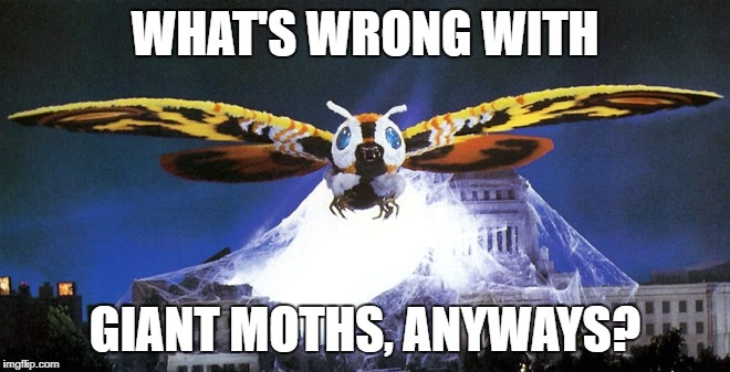 WHAT'S WRONG WITH GIANT MOTHS, ANYWAYS? | made w/ Imgflip meme maker