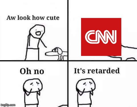 Threatening to leak someone's information just because they made a gif for laughs? Real low CNN | image tagged in oh no its retarded | made w/ Imgflip meme maker