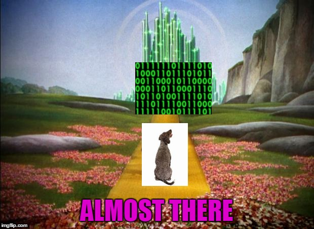 Pumping out the comments and making funny memes / You'll soon cross the threshold of all of our dreams! | ALMOST THERE | image tagged in wizard of oz,memes,raydog,knight of imgflip,imgflip,raydog 10 million point matrix icon | made w/ Imgflip meme maker