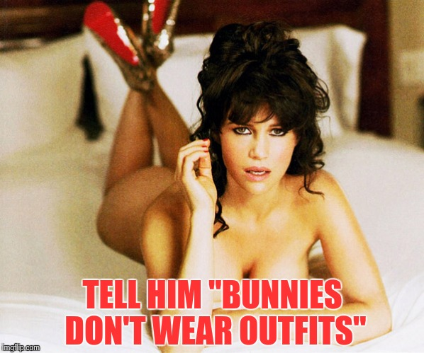 "Carla Gugino | TELL HIM ""BUNNIES DON'T WEAR OUTFITS"" 