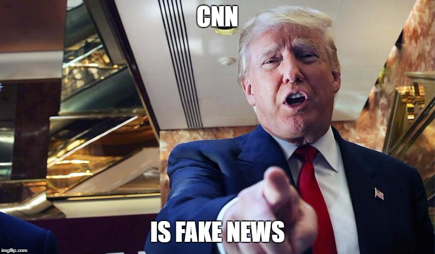 Trump Burn | CNN IS FAKE NEWS | image tagged in trump burn | made w/ Imgflip meme maker