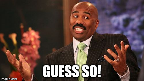 Steve Harvey Meme | GUESS SO! | image tagged in memes,steve harvey | made w/ Imgflip meme maker