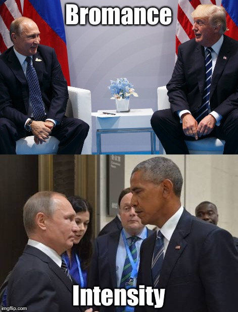 Obama | Bromance Intensity | image tagged in donald trump | made w/ Imgflip meme maker