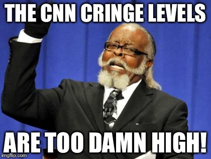 Too Damn High Meme | THE CNN CRINGE LEVELS ARE TOO DAMN HIGH! | image tagged in memes,too damn high | made w/ Imgflip meme maker