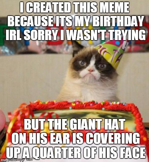 Birthday Cat Meme Generator: Grumpy Cat Birthday Memes