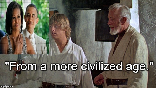"Life imitates art | ""From a more civilized age."" 