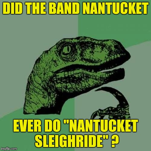 "Philosoraptor Meme | DID THE BAND NANTUCKET EVER DO ""NANTUCKET SLEIGHRIDE"" ? 