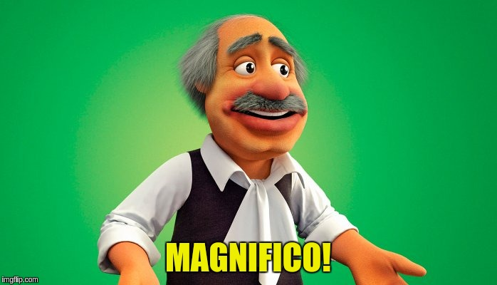 MAGNIFICO! | made w/ Imgflip meme maker