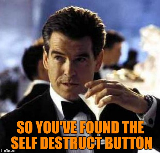 SO YOU'VE FOUND THE SELF DESTRUCT BUTTON | made w/ Imgflip meme maker
