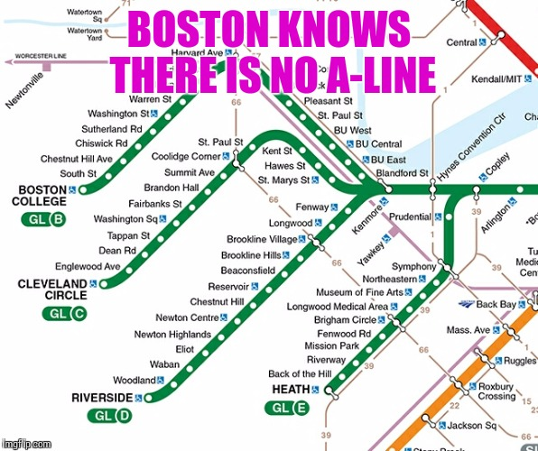 BOSTON KNOWS THERE IS NO A-LINE | made w/ Imgflip meme maker