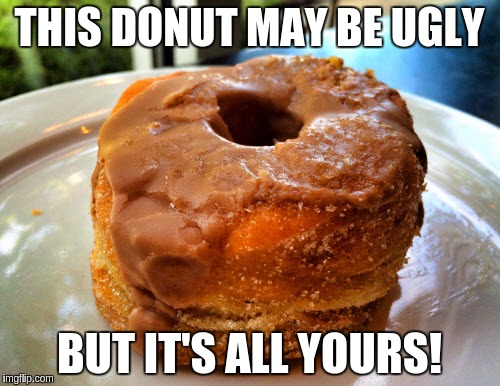 THIS DONUT MAY BE UGLY BUT IT'S ALL YOURS! | made w/ Imgflip meme maker