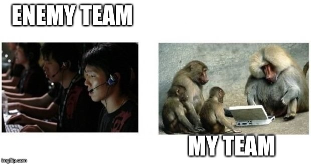 ENEMY TEAM MY TEAM | image tagged in enemy team my team | made w/ Imgflip meme maker