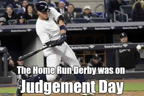 The Home Run Derby was on | image tagged in home run derby | made w/ Imgflip meme maker