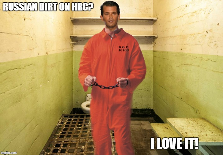 Dirty Bird | RUSSIAN DIRT ON HRC? I LOVE IT! | image tagged in donald trump jr,russiagate,trump russia collusion | made w/ Imgflip meme maker