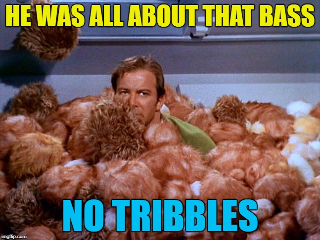 HE WAS ALL ABOUT THAT BASS NO TRIBBLES | made w/ Imgflip meme maker