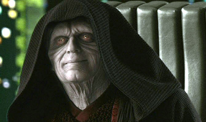 High Quality Emperor Palpatine smile Blank Meme Template