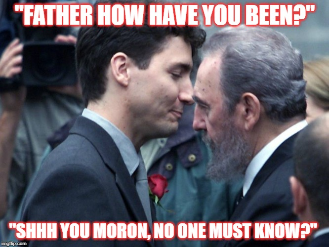 """FATHER HOW HAVE YOU BEEN?"" ""SHHH YOU MORON, NO ONE MUST KNOW?"" 