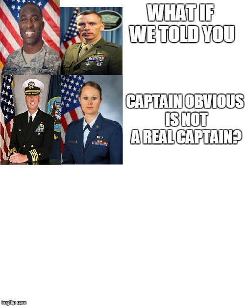 To the real heroes | WHAT IF WE TOLD YOU CAPTAIN OBVIOUS IS NOT A REAL CAPTAIN? | image tagged in captain obvious | made w/ Imgflip meme maker