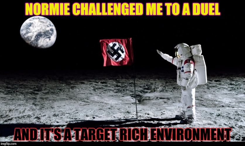 NORMIE CHALLENGED ME TO A DUEL AND IT'S A TARGET RICH ENVIRONMENT | made w/ Imgflip meme maker