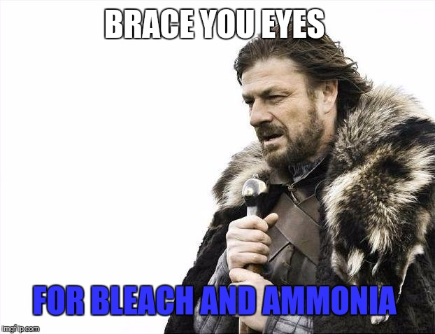 Brace Yourselves X is Coming Meme | BRACE YOU EYES FOR BLEACH AND AMMONIA | image tagged in memes,brace yourselves x is coming | made w/ Imgflip meme maker