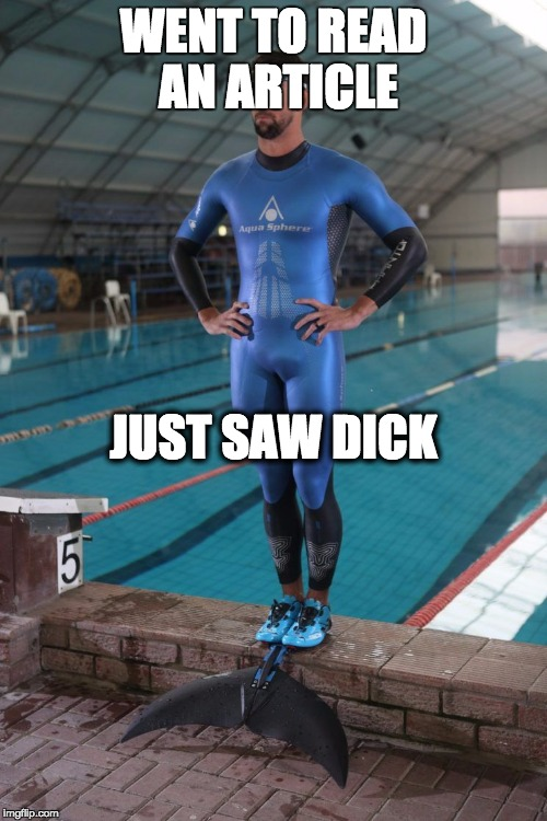 shark dick | WENT TO READ AN ARTICLE JUST SAW DICK | image tagged in phelps face,dick,shark week | made w/ Imgflip meme maker