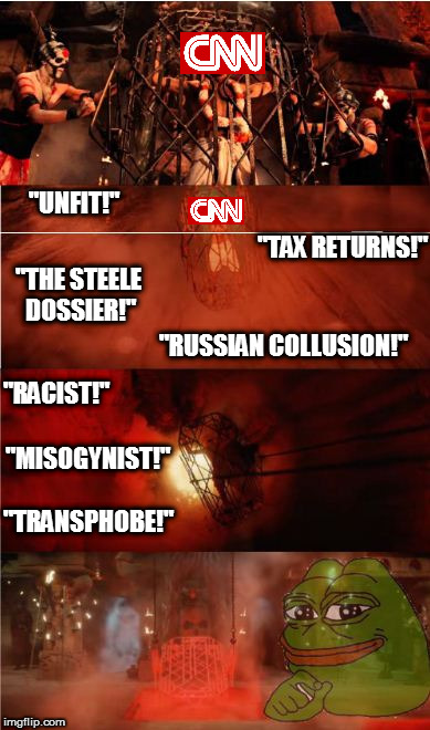 "CNN Going Down in Flames | ""THE STEELE DOSSIER!"" ""TAX RETURNS!"" ""RUSSIAN COLLUSION!"" ""MISOGYNIST!"" ""RACIST!"" ""TRANSPHOBE!"" ""UNFIT!"" 