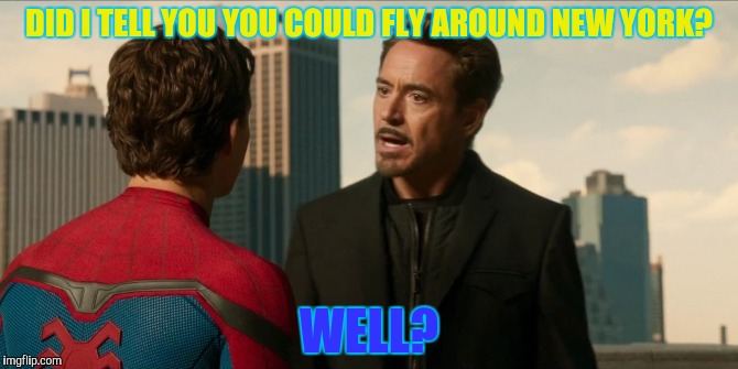 DID I TELL YOU YOU COULD FLY AROUND NEW YORK? WELL? | made w/ Imgflip meme maker