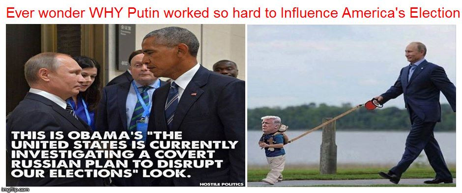 image tagged in trump putin obama | made w/ Imgflip meme maker