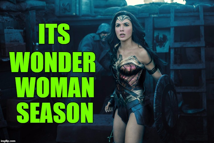 ITS WONDER WOMAN SEASON | made w/ Imgflip meme maker