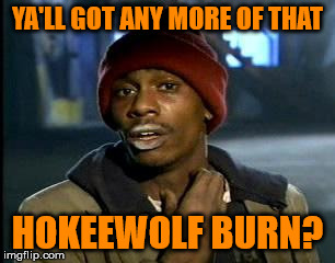 Y'all Got Any More Of That Meme | YA'LL GOT ANY MORE OF THAT HOKEEWOLF BURN? | image tagged in memes,yall got any more of | made w/ Imgflip meme maker