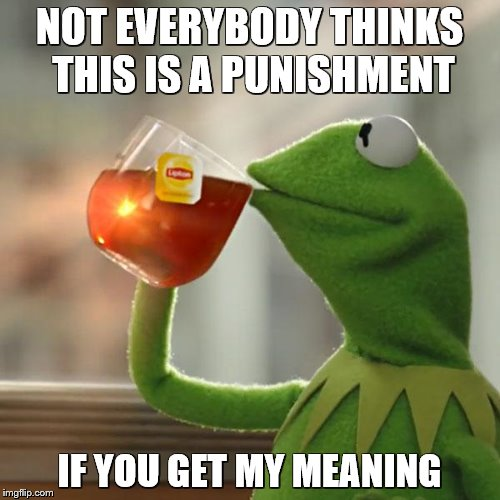 But Thats None Of My Business Meme | NOT EVERYBODY THINKS THIS IS A PUNISHMENT IF YOU GET MY MEANING | image tagged in memes,but thats none of my business,kermit the frog | made w/ Imgflip meme maker