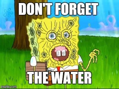 DON'T FORGET THE WATER | made w/ Imgflip meme maker