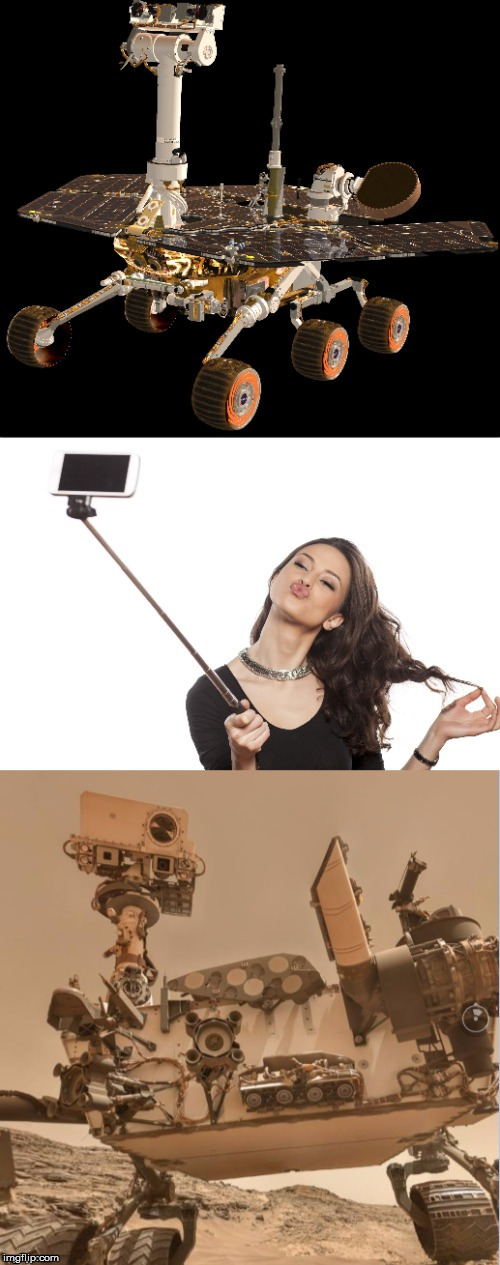 Selfie on Mars | image tagged in selfie stick,mars,space is fake | made w/ Imgflip meme maker