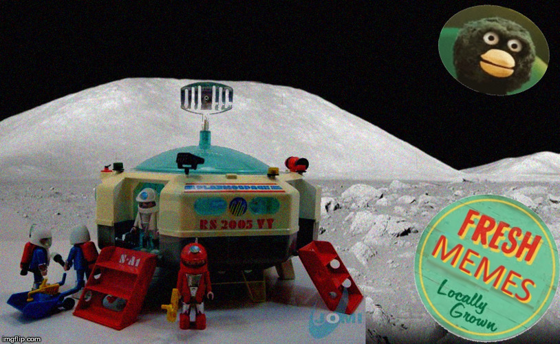 Playmobil Moon | image tagged in model,nasa,apollo,playmobil,space | made w/ Imgflip meme maker