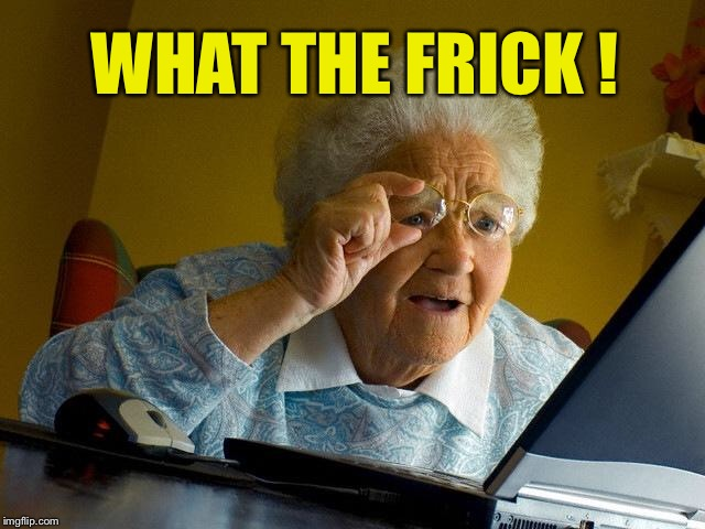 Grandma Finds The Internet Meme | WHAT THE FRICK ! | image tagged in memes,grandma finds the internet | made w/ Imgflip meme maker
