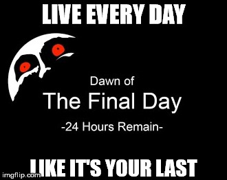 Carpe Termina | LIVE EVERY DAY LIKE IT'S YOUR LAST | image tagged in carpe diem,the legend of zelda,majora's mask | made w/ Imgflip meme maker