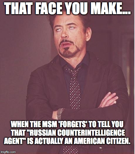 "Funny how the MSM could ""forget"" a tiny little detail like that, isn't it? 