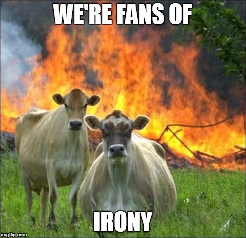 WE'RE FANS OF IRONY | made w/ Imgflip meme maker