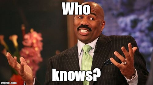 Steve Harvey Meme | Who knows? | image tagged in memes,steve harvey | made w/ Imgflip meme maker