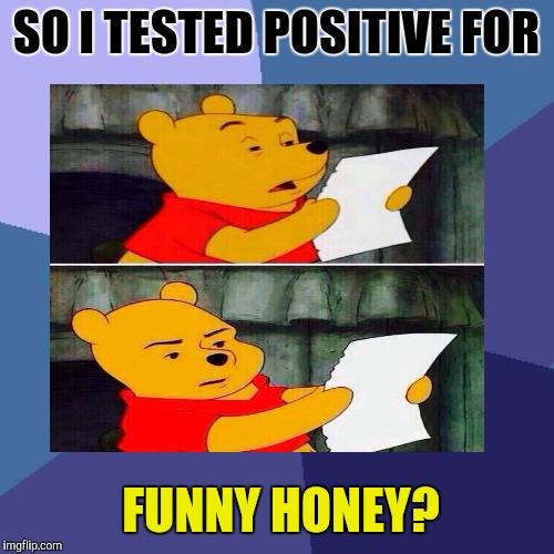 Oh POOH! What did yooh dooh? If it's not trooh yooh should sooh. | SO I TESTED POSITIVE FOR FUNNY HONEY? | image tagged in funny,pooh,animals,food,humor,memes | made w/ Imgflip meme maker