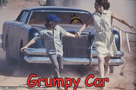 Grumpy Car | image tagged in grumpy cat,the car,memes | made w/ Imgflip meme maker