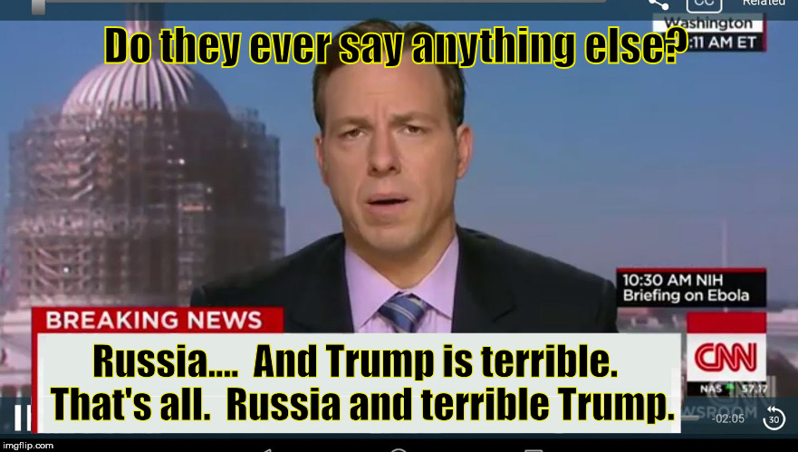 CNN is too predictable | Do they ever say anything else? Russia....  And Trump is terrible.  That's all.  Russia and terrible Trump. | image tagged in cnn breaking news template,cnn fake news,cnn sucks,russia,liberal logic | made w/ Imgflip meme maker