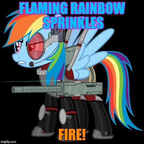 FLAMING RAINBOW SPRINKLES FIRE! | made w/ Imgflip meme maker