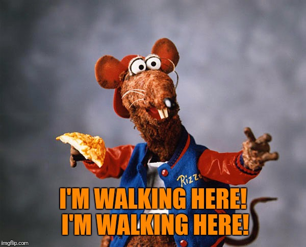 I'M WALKING HERE! I'M WALKING HERE! | made w/ Imgflip meme maker